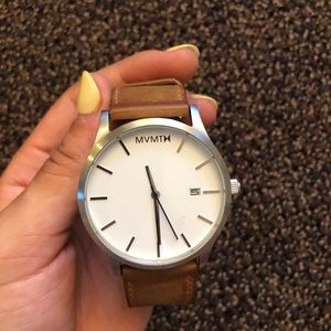Leather MVMT watch